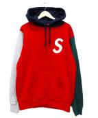 Supreme(シュプリーム)の古着「Sロゴカラーブロックドフーデットスウェットシャツ」