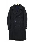 PS Paul Smith(ピーエスポールスミス)の古着「メルトントレンチコート」|ブラック