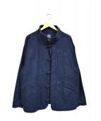 PORTER CLASSIC(ポータークラシック)の古着「モールスキンチャイナジャケット」|インディゴ