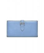 HERMES(エルメス)の古着「ベアンスフレ二つ折り財布」|ブルー
