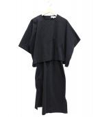 ENFOLD(エンフォルド)の古着「C.GRYポンチセパレートドレス」|グレー