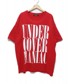 UNDER COVER(アンダーカバー)の古着「アンダーカバーマニアックティー」|レッド