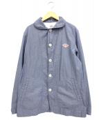 DANTON(ダントン)の古着「ダウンプルーフショールカラージャケット」 ブルー