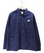DANTON(ダントン)の古着「ナイロンタフタレギュラーカラーカバーオール ジャケット」 ネイビー