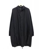 AURALEE(オーラリー)の古着「フィンクスシャンブレービッグステンカラーコート」|ブラック