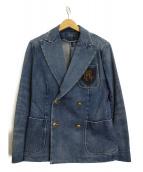 POLO RALPH LAUREN(ポロ バイ ラルフローレン)の古着「デニムダブルジャケット」|インディゴ