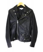 BEAUTY&YOUTH(ビューティアンドユース)の古着「シープレザーダブルライダースジャケット」|ブラック