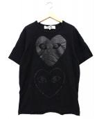 PLAY COMME des GARCONS(プレイコムデギャルソン)の古着「プリントTシャツ」|ブラック