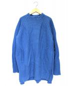UNDERCOVER(アンダーカバー)の古着「重ねハギローゲージニット」 ブルー