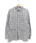 E.TAUTZ(イートーツ)の古着「ルーズシルエットフランネルシャツ」|グレー
