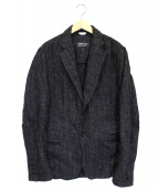 COMME des GARCONS HOMME DEUX(コムデギャルソンオムドゥ)の古着「ウールリネンブレンド2Bジャケット」 グレー