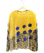 45R(フォーティファイブアール)の古着「歳時記Tシャツ」|イエロー×ネイビー