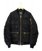 BAL(バル)の古着「マルチポケットボンバージャケット」|ブラック