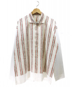 HOMME PLISSE ISSEY MIYAKE(オムプリッセ イッセイミヤケ)の古着「ストライプシャツ」