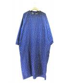 45R(フォーティファイブアール)の古着「二重折水玉プリントノドレス」|インディゴ
