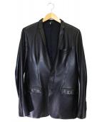 Dior HOMME(ディオールオム)の古着「ラムレザー2Bスナップジャケット」 ブラック