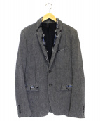 MIHARA YASUHIRO(ミハラヤスヒロ)の古着「2Bダメージリネンジャケット」|グレー