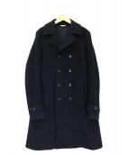 COMME des GARCONS HOMME PLUS(コムデギャルソンオムプリュス)の古着「ウールロングPコート」|ネイビー