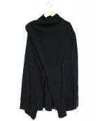 Kiryuyrik(キリュウキリュウ)の古着「ヒートテックジャージーベルクロラップカーディガン」|ブラック
