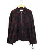 URU×GARDEN(ウル×ガーデン)の古着「別注ハーフジッププルオーバーシャツ」|バーガンディー
