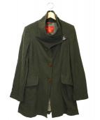 Vivienne Westwood RED LABEL(ヴィヴィアンウエストウッド レッドレーベル)の古着「メルトンショートコート」|オリーブ