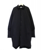 Yohji Yamamoto pour homme(ヨウジヤマモトプールオム)の古着「ローゲージボタンアップロングカーディガン」|ブラック