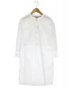 BURBERRY(バーバリー)の古着「カットワーク刺繍ブラウスワンピース」|ホワイト