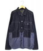 NIGEL CABOURN(ナイジェルケーボン)の古着「ユーティリティーミックスシャツ」 インディゴ