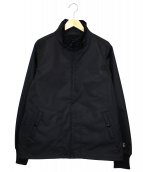 IRON HEART(アイアンハート)の古着「コーデュラナイロンスタンドカラージャケット」 ブラック