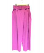 ebure(エブール)の古着「タックワイドパンツ」 ピンク