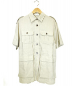 CASA FLINE(カーサフライン)の古着「サファリシャツ」|ベージュ
