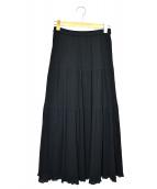 ROPE(ロペ)の古着「楊柳プリーツティアードスカート」|ブラック