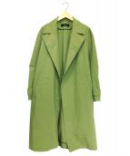 SACRA(サクラ)の古着「ベルト付チェスターコート」|カーキ