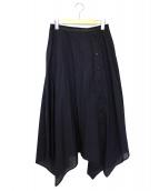 LEMAIRE(ルメール)の古着「サイドボタンコットンスカート」|ネイビー