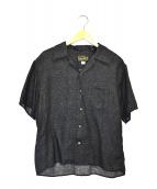 ORGUEIL(オルゲイユ)の古着「オープンカラーシャツ」|ブラック