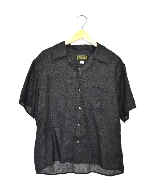 ORGUEIL(オルゲイユ)ORGUEIL (オルゲイユ) オープンカラーシャツ ブラック サイズ:42 Open Collared Shirt  OR-5020Bの古着・服飾アイテム