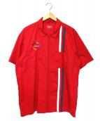 SUPREME(シュプリーム)の古着「ジップアップS/Sワークシャツ」|レッド
