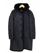 LAVENHAM(ラベンハム)の古着「キルティングフーテッドコート」|ブラック
