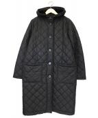 Traditional Weatherwear(トラディショナルウェザーウェア)の古着「フーデットキルティングコート」|ブラック