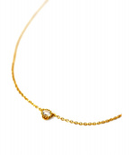 STAR JEWELRY(スタージュエリー)の古着「ダイヤ0.05ct/K18ゴールドネックレス」|ゴールド
