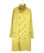 LEMAIRE()の古着「スタンドカラーコート」|イエロー