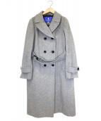 BLUE LABEL CRESTBRIDGE(ブルーレーベルクレストブリッジ)の古着「ウールダブルロングコート」 グレー