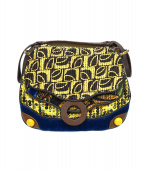 JAMIN PUECH(ジャマンピュエッシュ)の古着「装飾ハンドバッグ」|イエロー