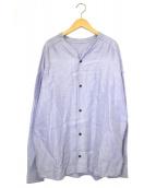 THE Sakaki(ザ サカキ)の古着「リネンシャツ」|パープル