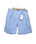 SCYEBASICS(サイベーシックス)の古着「高密度タフタ製品染めワイドショーツ」|ブルー
