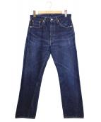 Levi's VINTAGE CLOTHING(リーバイスヴィンテージクロージング)の古着「1955年復刻リジットデニム」 インディゴ