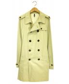 DIOR HOMME(ディオール オム)の古着「コットンギャバジントレンチコート」|ベージュ