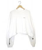 NEON SIGN(ネオンサイン)の古着「ショートスウェット」|ホワイト