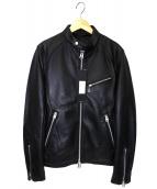 JACKROSE(ジャックローズ)の古着「ラムレザージャケット」|ブラック