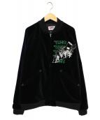 Thee Hysteric XXX(ジィ ヒステリック トリプルエックス)の古着「刺繍スカジャン」|ブラック